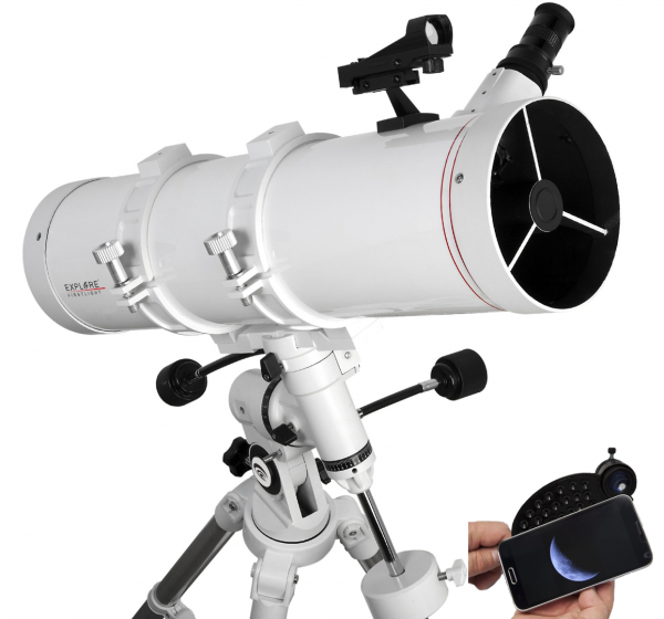 EXPLORE SCIENTIFIC FIRSTLIGHT 130MM TELESCOPIO NEWTONIANO CON EQ3 MOUNT – FL-N130600EQ3_0