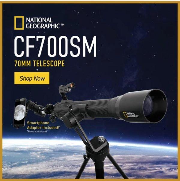 National Geographic CF700SM Telescopio Refractor 70 fibra de carbono_0